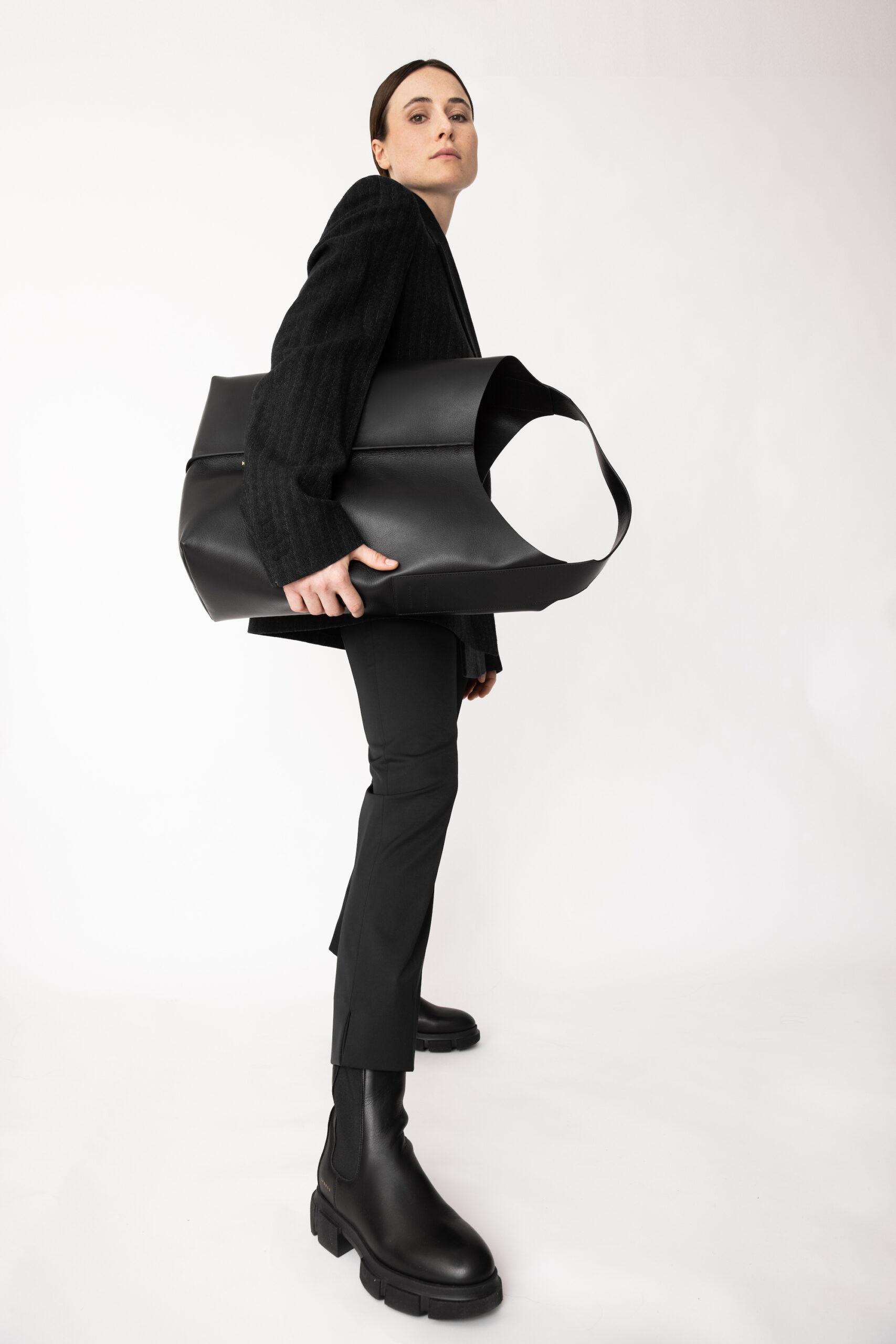 Lena Lademann with CPH Bag 1 vitello black and CPH500 vitello black